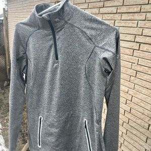 Gray under armour pull over